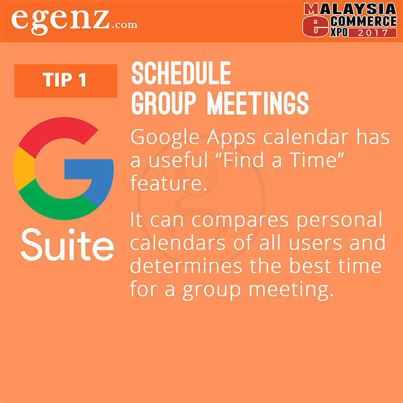 Tips 1 - Schedule Group Meetings