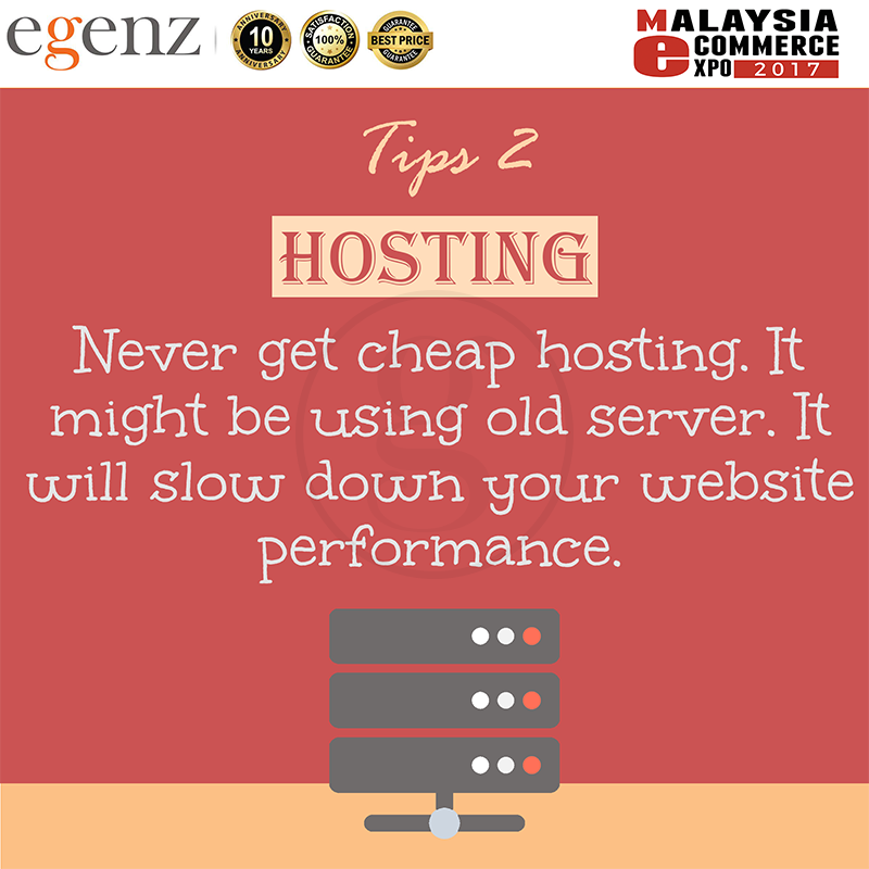 Tips 2 - Never get Cheap Hosting