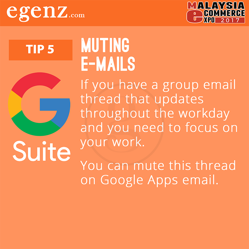 Tips 5 - Muting Emails