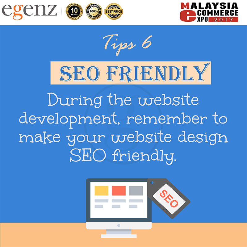 Tips 6 - Make Website SEO Friendly