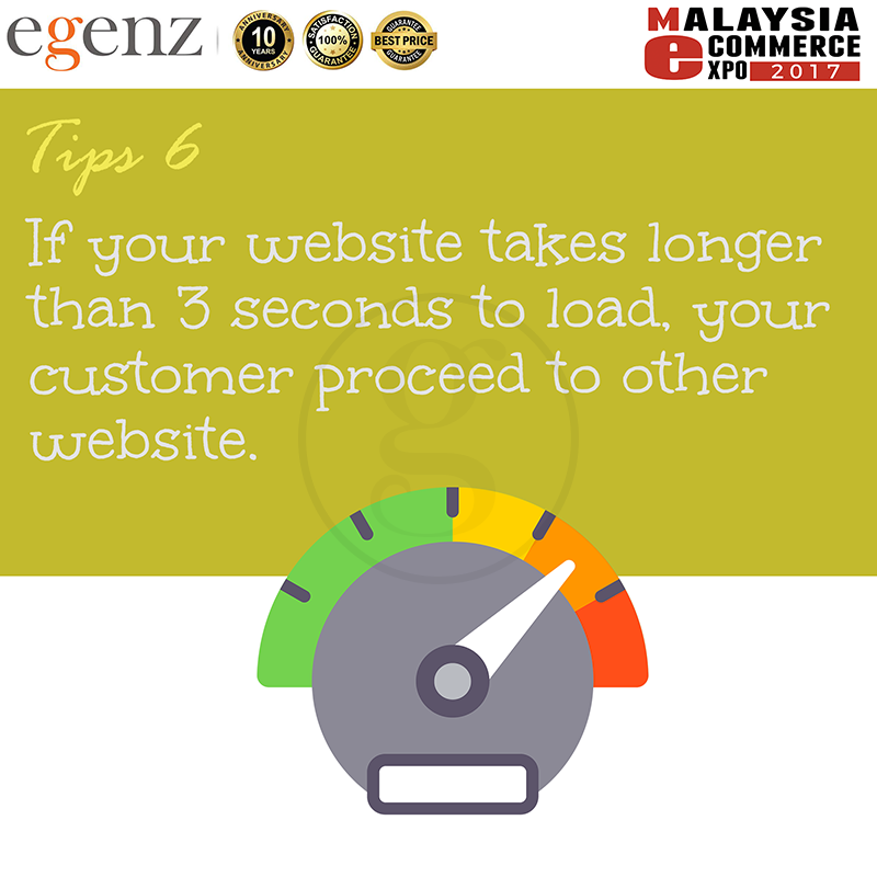 Tips 6 - Website Loading Speed