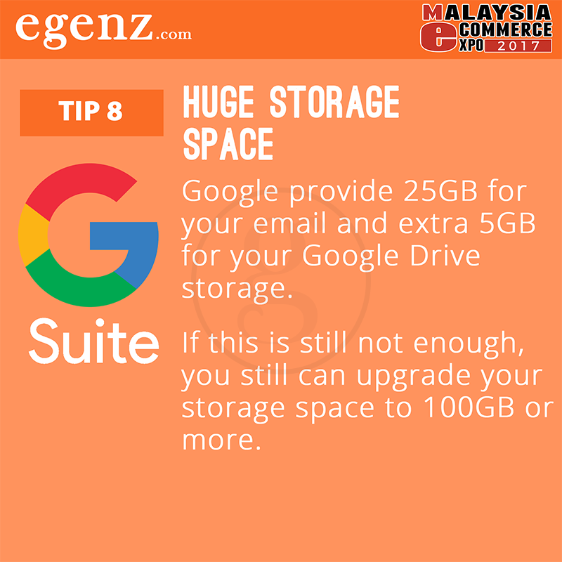 Tips 8 - Huge Storage Space