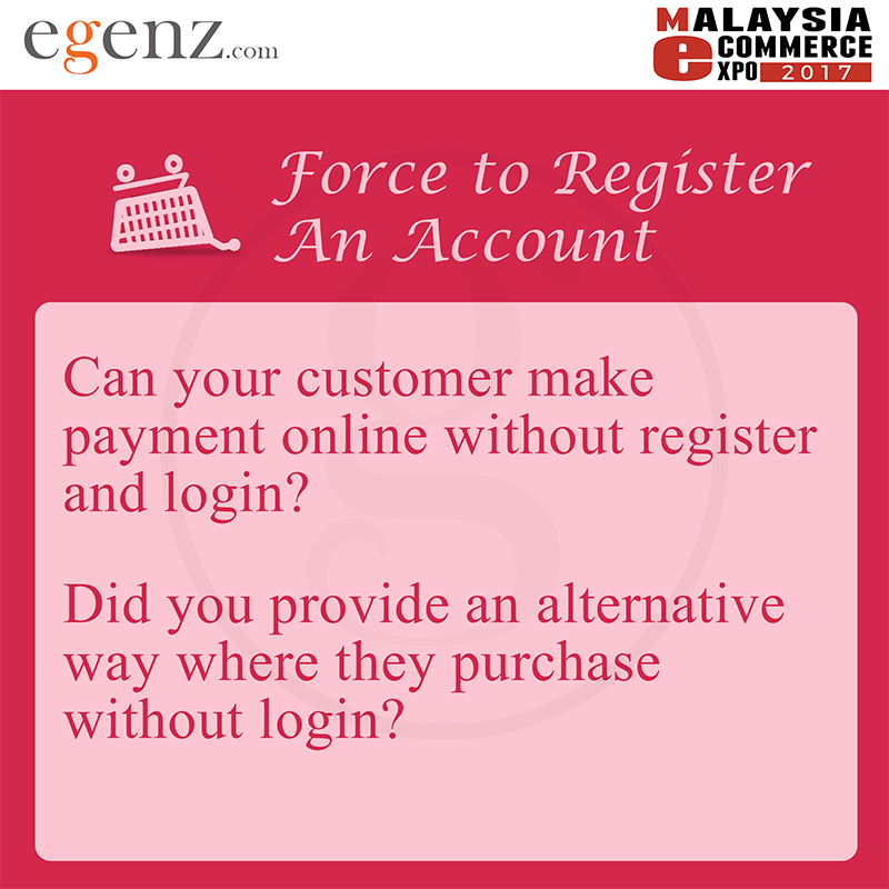 Force to Register an Account