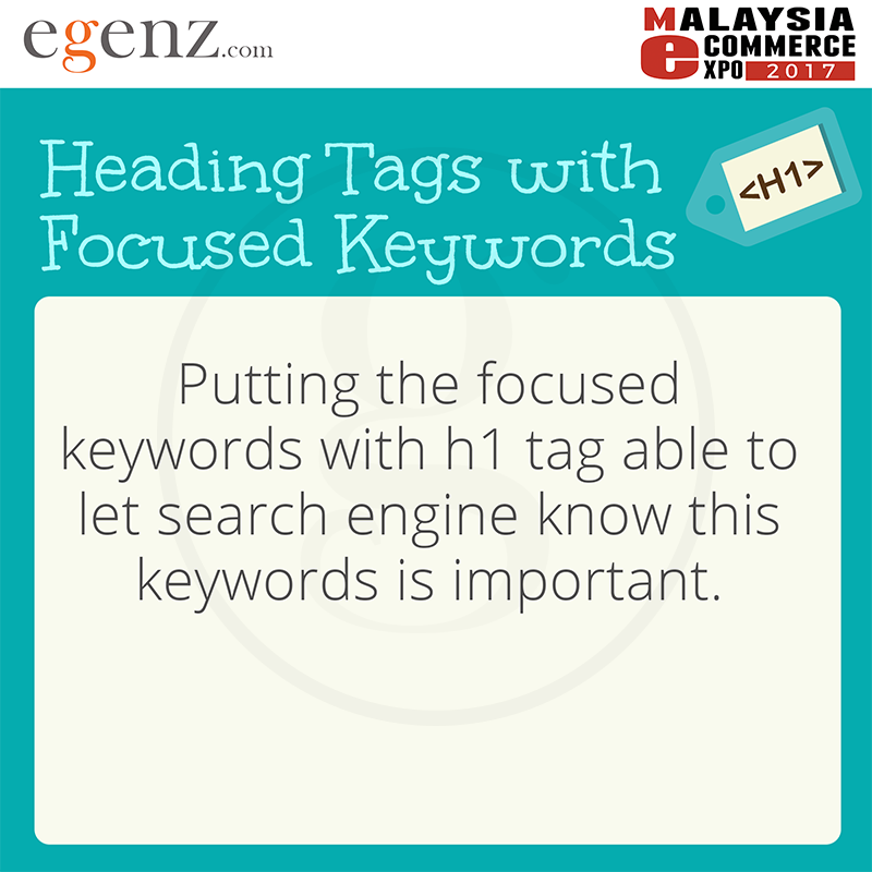 Heading Tags with Focused Keywords