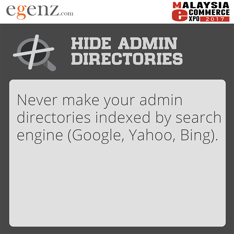 Hide Admin Directories