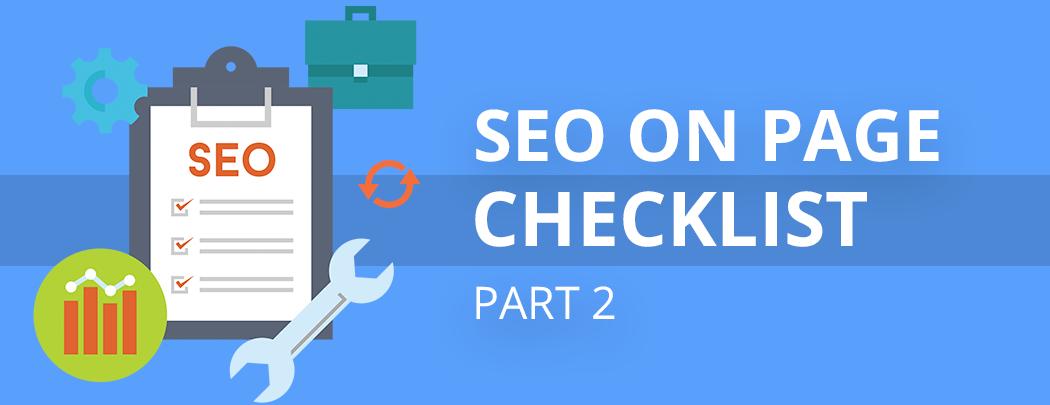 Checklist for OnPage SEO Part 2 – Egenz.com