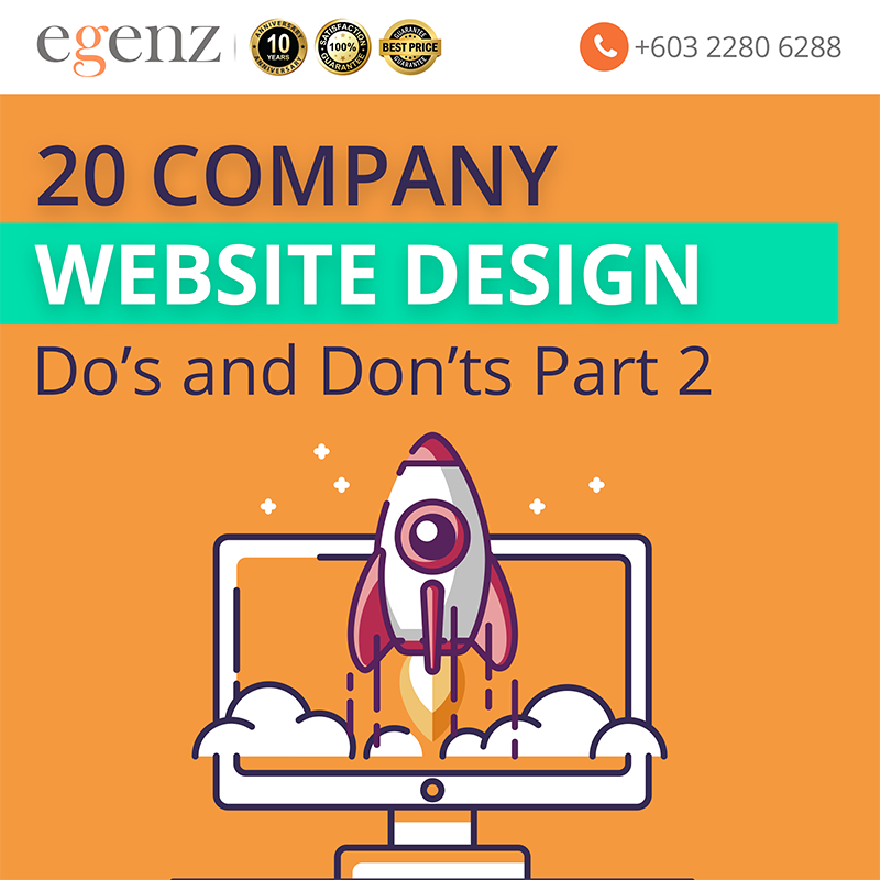 20 Website Design Do's and Don'ts Part 2