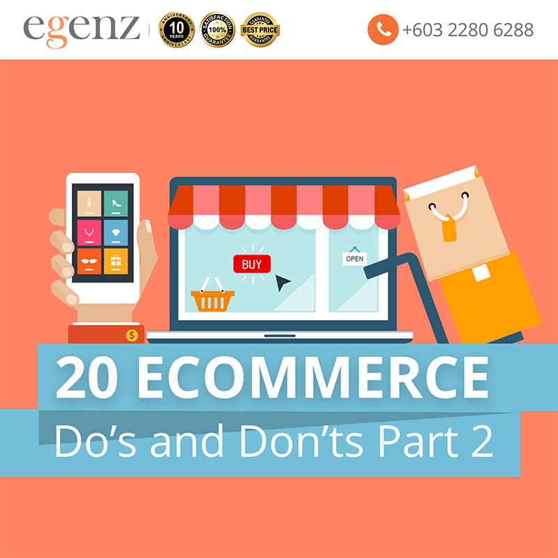 20 Ecommerce Dos and Dont's Part 2