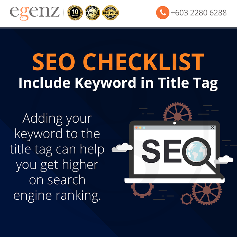 Include Keyword In Title Tag